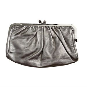!! 3 for $20!!Express grey metallic leather clutch